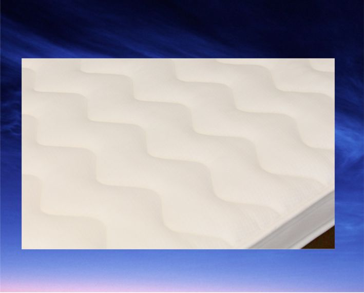 Topdekmatras Oslo, maat 80 x 190 cm, 7 cm dik