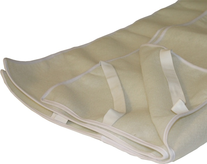 Matras onderlegger, 90 cm breed, vilt (onderzijde)