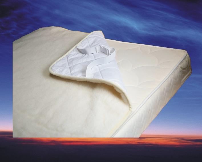 Topcover Merino Wol, 120x200 cm, matras tijk 3 cm dik