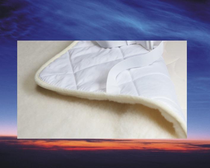 Topcover Merino Wol, 90x210 cm, matras tijk 3 cm dik