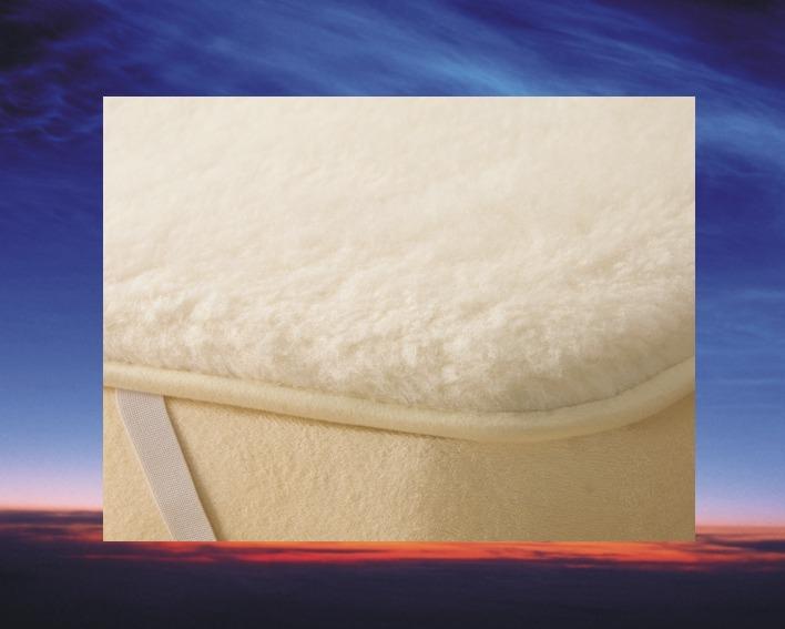 Topcover Merino Wol, 90x200 cm, matras tijk 3 cm dik