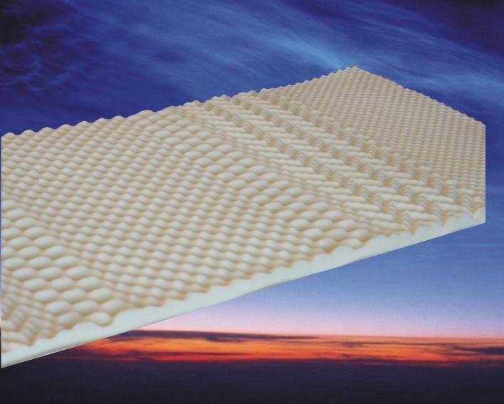 Topdekmatras Nasa 3D, 90 x 200 cm, 6 cm dik, traagschuim