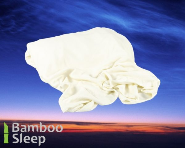 Bamboe hoeslaken ivoor