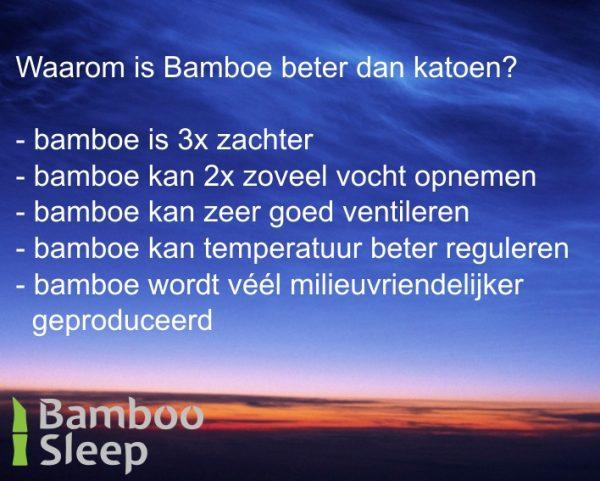 Bamboe molton matras wit