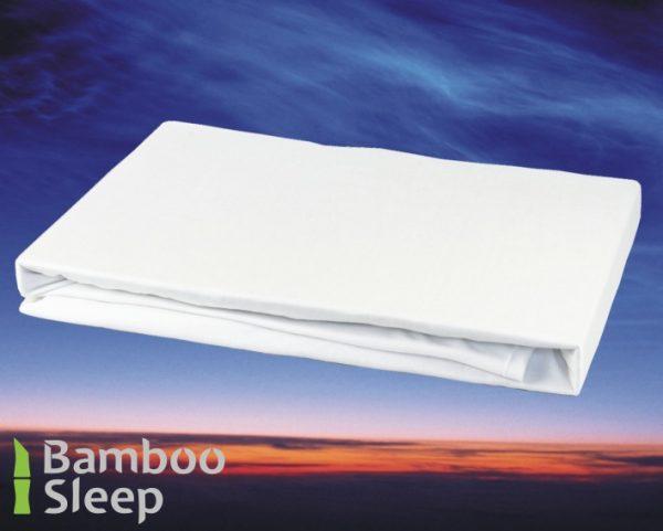 Bamboe hoeslaken matras wit