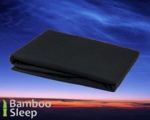 Bamboe hoeslaken zwart