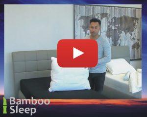 Bamboe kussen met neksteun video