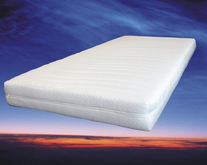Basic matras 90x200 cm, 16 cm hoog, polyether schuimkern SG30
