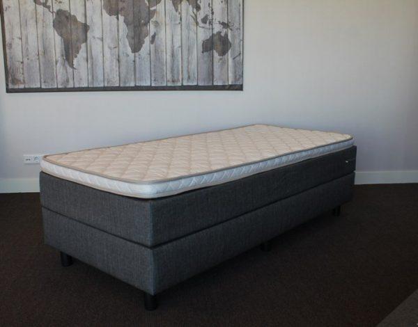 Boxspring bodem + Gestoffeerde matras + Topper